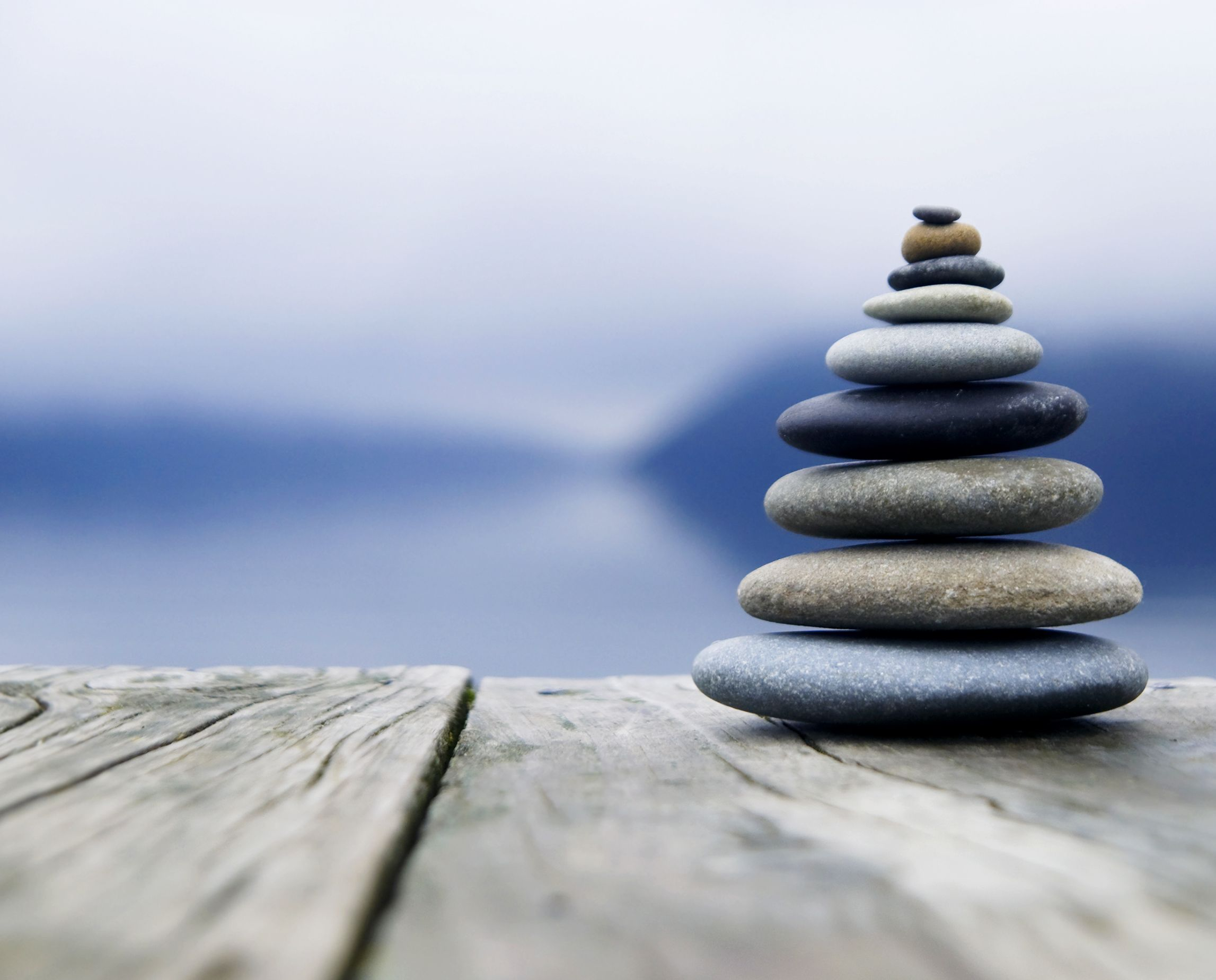 Zen Balancing Rocks O A Deck New Zealand Essentialist And