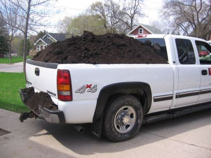 Image result for pickup full of dirt
